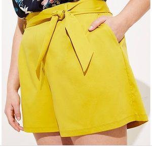 LOFT Plus tie waist shorts